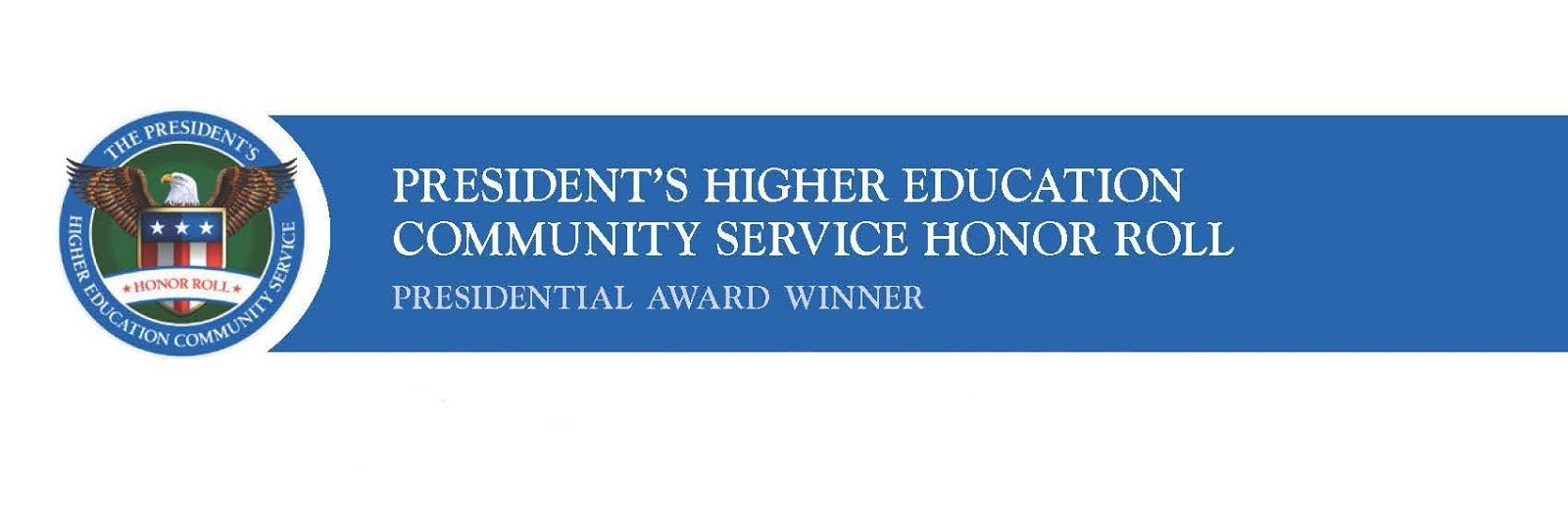 President's Higher Education Community Service Honor Roll - Presidential Award Winner