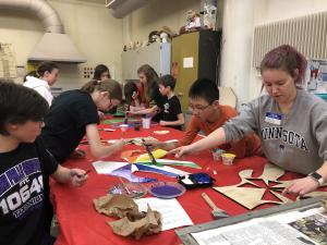 Holmes Junior High Students Painting